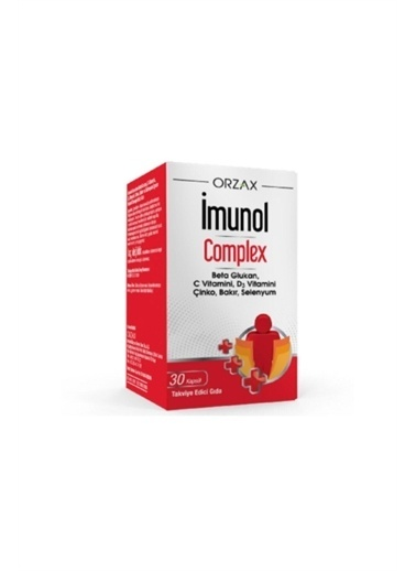 Orzax Orzax Imunol Complex Beta Glukan 30 Kapsül Renksiz